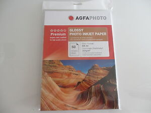 Agfa Photo Paper din A4 250 Sheets Sheet / 210g Glossy Paper AP21050A4 Boxed