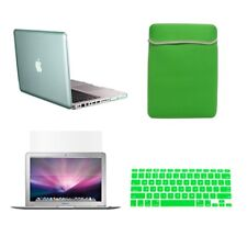 "4 in1 Crystal GREEN Case for Macbook PRO 13"" + Keyboard Cover + LCD Screen+ Bag"