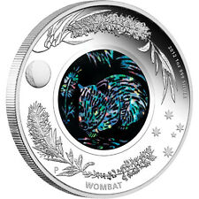2012 Australian 1 oz Proof Silver coin WOMBAT Opal Series $1 AUD with BOX