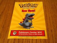 Pokemon 2001 Pokemon Center NYC The First Store Promotional Postcard New