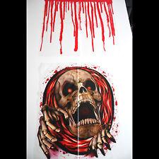Bloody Horror-SKELETON SKULL TOILET COVER-Halloween Pirate Bathroom Decorations