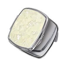Ladies Makeup Compact - Faux Mother Of Pearl Cover - Mirror Inside