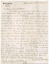 Bess Houdini Handwritten Letter from 1926 - (Price Dropped)