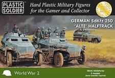 15mm Alemán Sdkfz 250 'Alte' Semioruga-Plastic Soldier-enviado 1ST clase-Segunda Guerra Mundial
