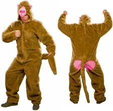 Kostüm Pavian Plüsch-Overall Universalgröße Affe Affenanzug Affenkostüm Karneval