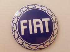 Fiat Porcelain Coated Round Heavy Sign Cabin Home Garage Shop Decor