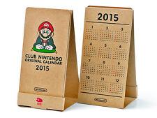 Club Nintendo Japan 2015 Desk Calendar mario peach yoshi toad wii 3ds