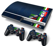 PS3 Original PlayStation 3 Skin Stickers PVC for Console & 2 Pads Italia