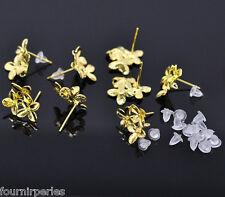 5 paires Boucles d'oreilles clou avec Embouts 15x14mm