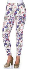 Sheego Damen Leggings Hose lang Blumen-Print enge Leggins Röhre Stretch 853256 .