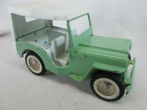 Vintage 1960's Tonka light green Jeep w/white top no. 200