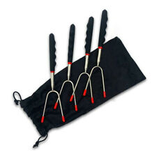 Extendable Hot Dog Forks & Marshmallow Roasters 4 Pack Campfire Roasting Sticks