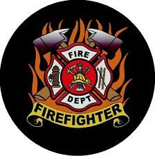 Firefighter Fire & Rescue Hero Drink Coasters Polyester Top Rubber Bottom Setof4