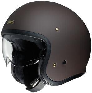 Shoei J O Open Face Motorcycle Helmet - Matte Brown