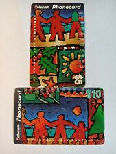 AU Telecom Phonecard CHRISTMAS 1994 (2 Cards) Used Collectors Item Great