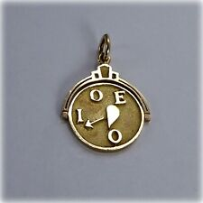 9ct Gold 'I Love You' Spinner Charm