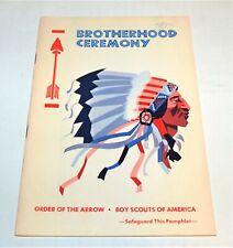 BSA - OA…BROTHERHOOD CEREMONY…1975 PRINTING