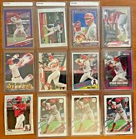 Mike Trout Lot of 8 + Adell Lot of 4 ✨ Bowman Chrome Topps Chrome Panini Donruss