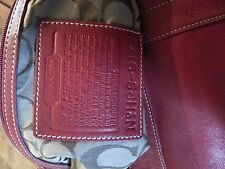 COACH X-Large Burghandy red Leather Carry All Business Tote Diaper Bag NICE