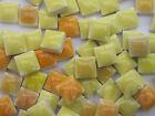 "450pcs Micro Mosaic Tiles Orange  Yellow mix 3/8"" stock in US"