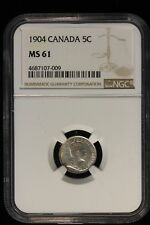 1904 Canada. 5 Cents. NGC Graded MS-61.