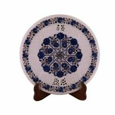 2'x2' White Marble Table Top Coffee Center Inlay Lapis Mosaic Home Decor