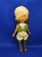 Vintage Anri Carved Wood Boy in Turban Figurine Figurine Toy Movable Limbs