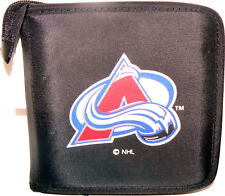 COLORADO AVALANCHE CD/DVD/GAME OR VIDEO STORAGE CARRYING CASE NHL ORGANIZER BAG