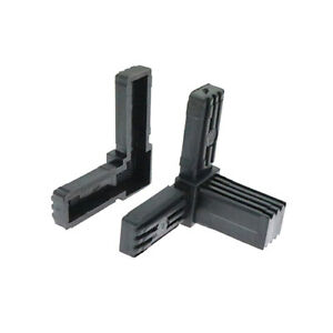 4 Pack Square 3 Way Corner Tube Connector, Tube Fixing, Tube Joint, Heavy Duty