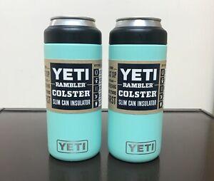 Yeti Rambler 12oz Colster Slim Can Seafoam - Set of 2 - New - Free Shipping