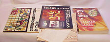 3 STAINED GLASS BOOKS CREATING, PATTERNS, WORKING w XTRA PATTERNS