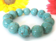 "Hot New 7.5""Bracelet made of turquoise in ball form 10mm AAA+"