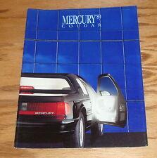 Original 1989 Mercury Cougar Sales Brochure 89