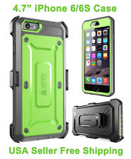 New Supcase For iPhone 6/6S Unicorn Beetle Full Body Rugged Holster Case Green