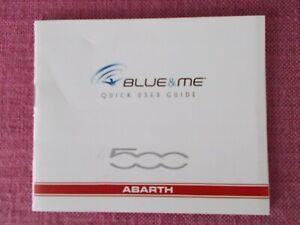 (2010 PRINT) FIAT 500 ABARTH BLUE&ME QUICK USER GUIDE - NOT HANDBOOK  (ACQ 8560)