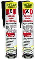 Petec 94730 Klebt + Dichtet Karosseriedichtmasse Dichtmasse schwarz 2 x 310 ml