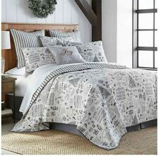 New Christmas Full/Queen Ember charcoal  Cotton Quilt 3 piece Set $129