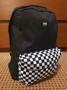 BRAND NEW Vans Black and White Checkered/Chequered NEW SKOOL BACKPACK - Rucksack