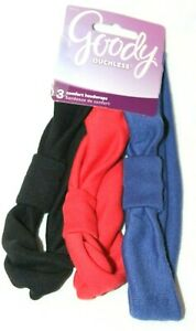 Goody Ouchless 3 Comfort Headwraps Red, Blue, Black #64343
