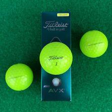 Titleist AVX Golf Balls - YELLOW - NEW Retail Sleeve (3 balls) - 2020 Release