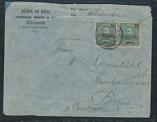ZAMBEZIA (P2912B) 1905 25 PROVISORIO PR COVER QUELIMANE TO SWITZERLAND