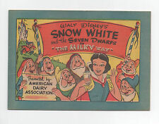 WALT DISNEY'S  SNOW WHITE AND THE SEVEN DWARFS  THE MILKY WAY  COMIC BOOK 1955