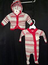 NWT Infant Girls Gymboree Poinsettia Sleeper + Jacket NB 0-3m Holiday 2pc CUTE
