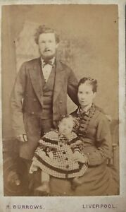 """POST MORTEM FAMILY BABY PHOTO CABINET CARD 4"""" X 2"""" LIVERPOOL"""