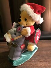 Winnie The Pooh Plush Rocking Horse Christmas Rare