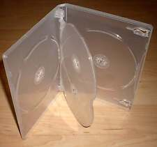 3 DVD Hüllen Case Cases 4fach 4er DVDhülle Hülle transparent für 4 DVDs 15mm Neu