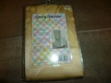 """Spring Splendor Damask Fabric 42"""" x 21"""" Armless Dining Room Chair Cover - Butter"""