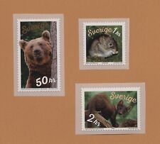 Sweden 2018 Mnh self-adhesive stamps brown bear, marten, forest mice
