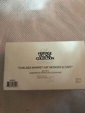 Department 56 Heritage Village Chelsea Market Hat Monger & Cart 58392 Mint