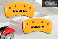 "2007-2014 Ford Mustang Shelby GT500 Rear Yellow MGP Brake Caliper Covers ""Cobra"""